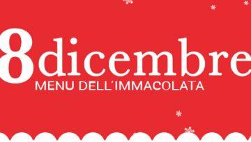 8 Dicembre menù dell'Immacolata
